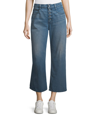 Montag Cropped Wide-Leg Cotton Pants