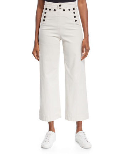 A.L.C. Pierce High-Waist Wide Leg Cropped Sailor Pants