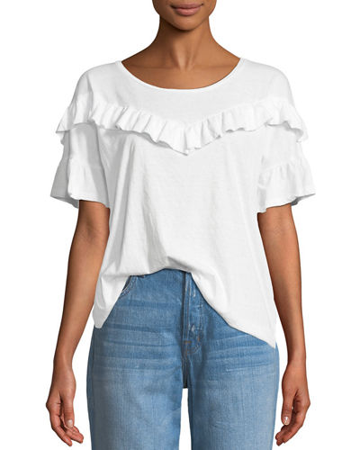 Adalie Ruffle Short-Sleeve Top
