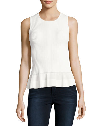 Sleeveless Knit Peplum Top