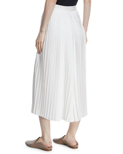 High-Waist Pleated Culotte Pants