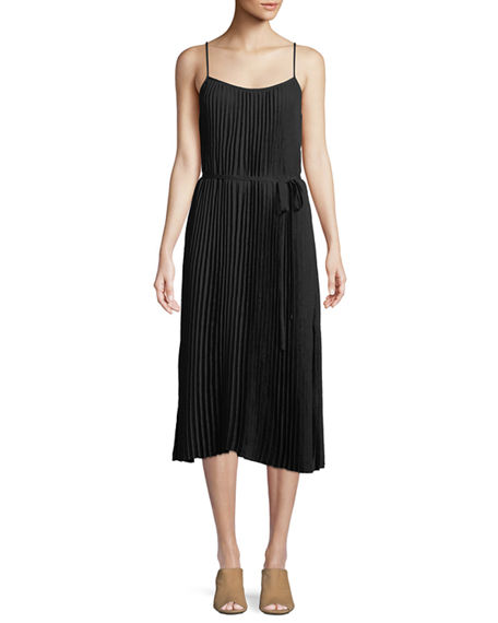 Clearance Get Authentic Discount Wholesale Price Crinkled Plissé-crepe Midi Dress - Black Vince Cheap Sale Low Shipping Discount 100% Authentic Buy Cheap Enjoy xWADnk