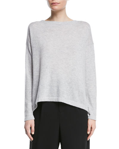 Cinched-Back Cashmere Pullover Sweater