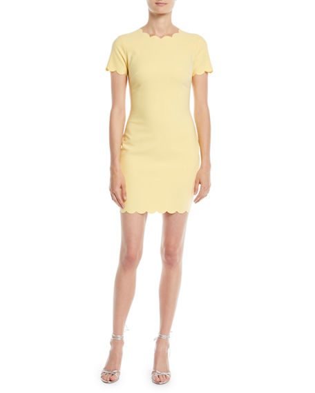 Likely MANHATTAN SCALLOPED SHEATH DRESS