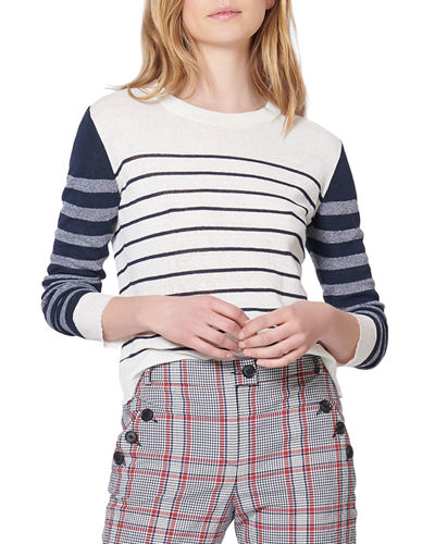 Brae Striped Crewneck Sweater