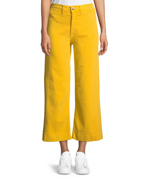M.i.h Jeans CARON HIGH-RISE CROPPED WIDE LEG PANTS