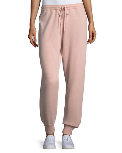 Cashmere Athletic-Stripe Lounge Pants