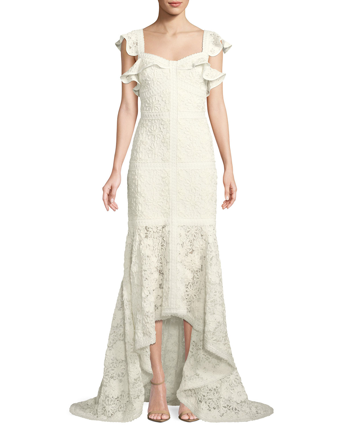 Alexis Dresses ZANDER LACE FLUTTER-SLEEVE GOWN