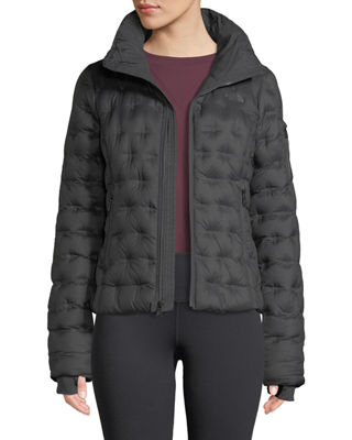 THE NORTH FACE Holladown Pintuck-Quilted Crop Jacket in Asphalt Grey