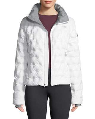 THE NORTH FACE Holladown Pintuck-Quilted Crop Jacket in White