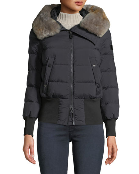 Peuterey HOTAS QUILTED PUFFER JACKET W/ FUR COLLAR