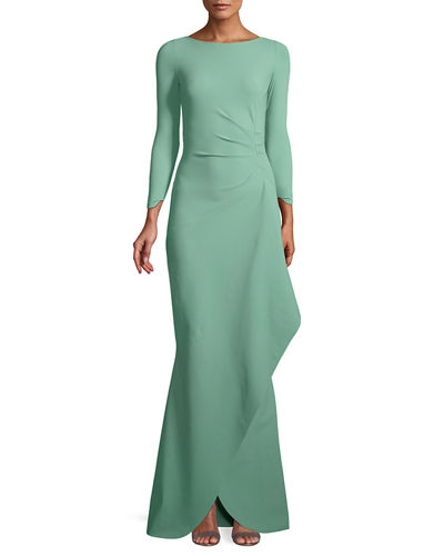 Galin Mermaid Gown w/ Side Drape
