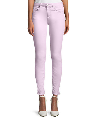The Ankle Skinny Jeans with Released Hem