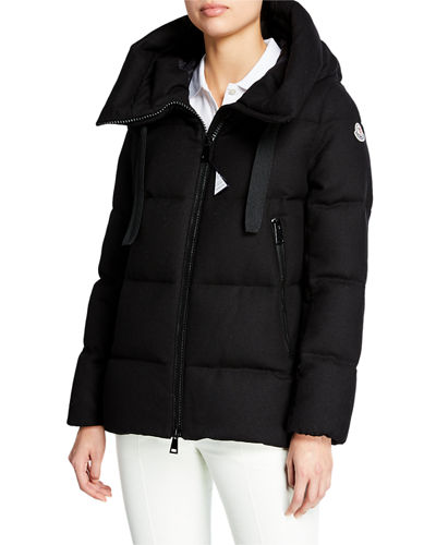 Serin Virgin Wool Puffer Jacket w/ Hood