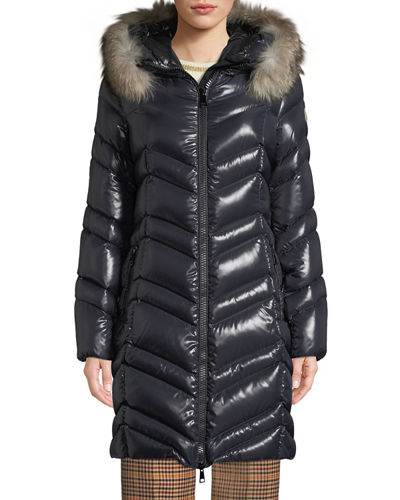 Fulmar Hooded Puffer Coat W/ Removable Fur Trim by Moncler