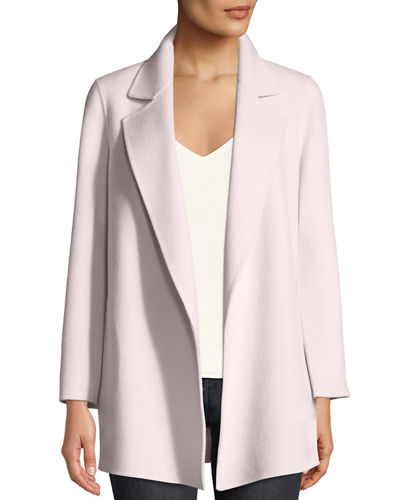7081d2926f Clairene Open-Front New Divide Wool-Cashmere Coat Quick Look. Theory