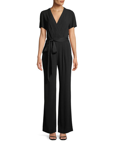 Purdy New Tie-Waist Wrap Jumpsuit