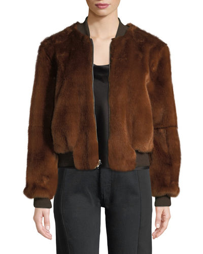 Ellington Faux-Fur Bomber Jacket