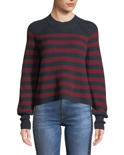 Boyd Crewneck Striped Cotton Sweater