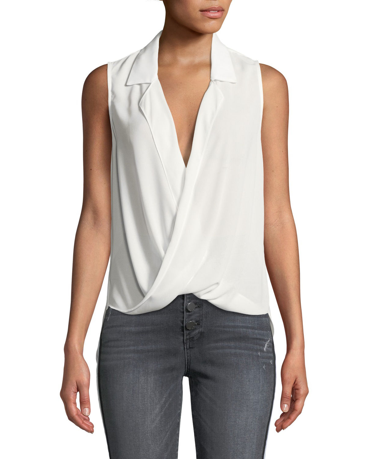 Likely MASON DRAPED GEORGETTE SLEEVELESS TOP