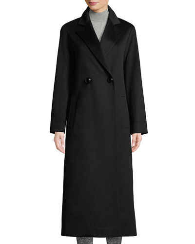 4445bef57 Long Two-Button Wool Coat