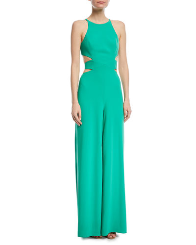 Wide-Leg Side-Cutout Jumpsuit