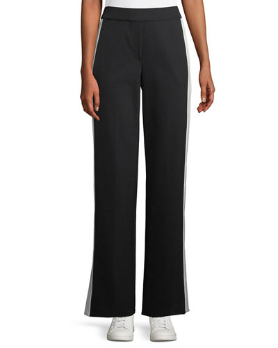 b5a93d464a8 Theory Side-Snap Wide-Leg Perform Tech Pull-On Pants