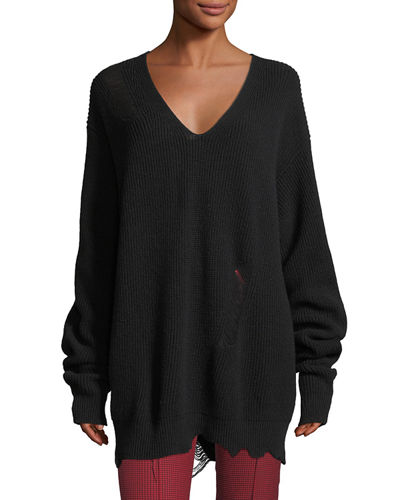 Helmut Lang Wool V-Neck Sweater How Much Sale Hot Sale Really Online Limited Edition Cheap Price Sale Visit New FtrTFVav1t