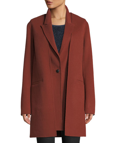 a5d3afef4eb Kaye Wool Single-Button Coat with Vest