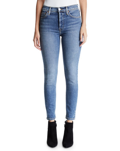High-Rise Skinny Ankle Cropped Jeans