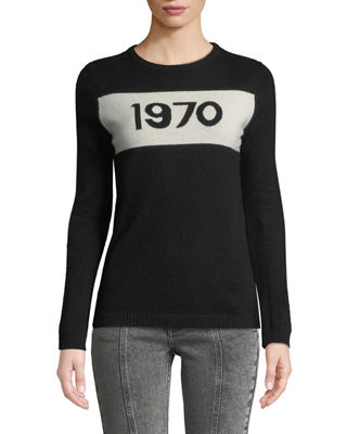 1970 Graphic Pullover Sweater in Black