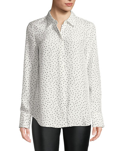 Lafayette 148 New York Scottie Brilliant Boxes Long-Sleeve