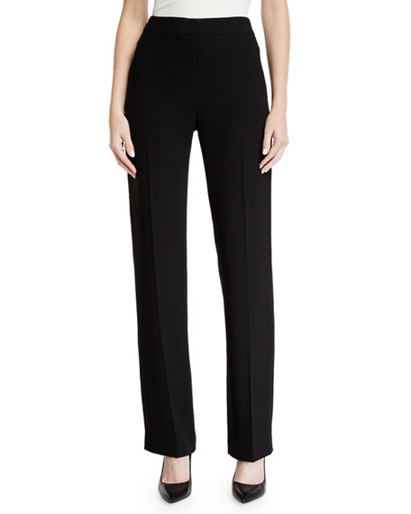 Elie Tahari LEENA HIGH-WAIST STRAIGHT-LEG PANTS