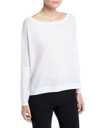 Taylin Boat-Neck Wool Sweater