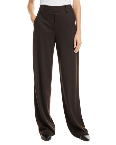 Cozy Wide-Leg Wool-Blend Pants