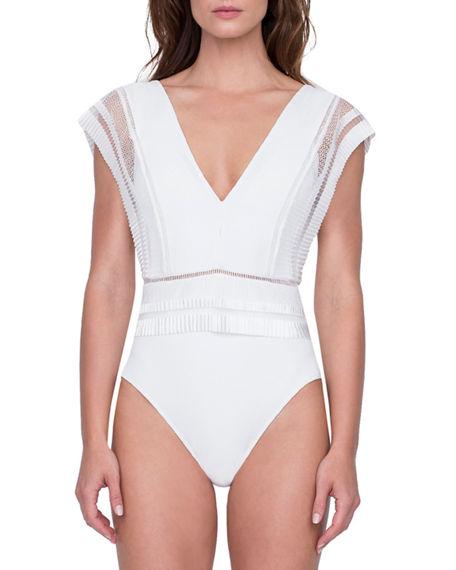 Gottex Suits AURA DEEP V ONE-PIECE SWIMSUIT