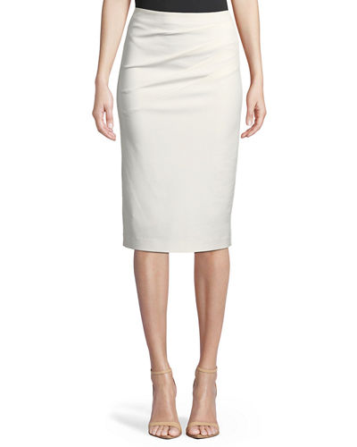 a4d3a18ae3 Lavana Pleated Pencil Skirt