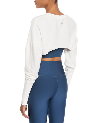 fe6f9cecc20f11 Alo Yoga Extreme Long-Sleeve Cropped Active Top