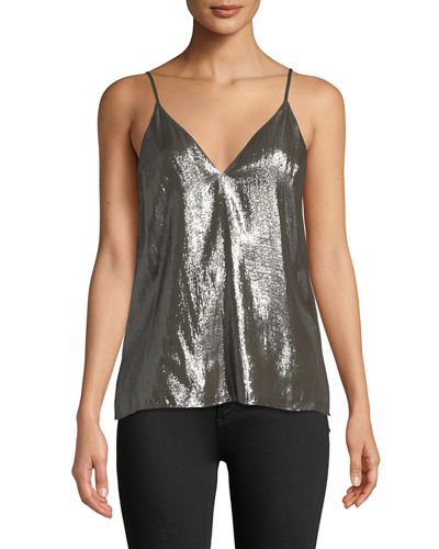 Olivia Metallic V-Neck Camisole Top