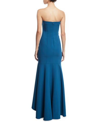 Carlo Strapless Fit-&-Flare Gown