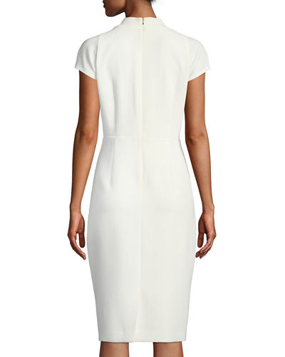 190088cc Elie Tahari Gerarda Stretch-Crepe Sheath Dress