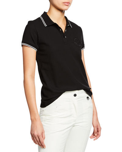 Large Logo Patch Polo Shirt