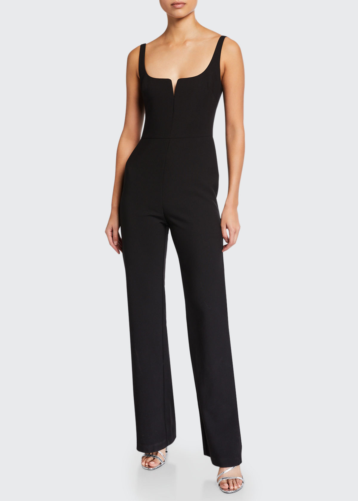 Likely CONSTANCE SLEEVELESS STRAIGHT-LEG JUMPSUIT