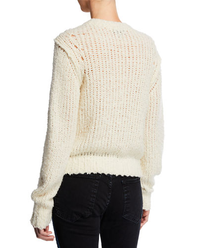 Arizona Crew Boxy-Fit Wool Sweater