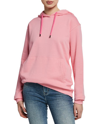 NOTIFY Hooded Sweatshirt With Kangaroo Pocket in Pink