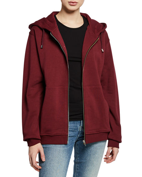 Notify ZIP-FRONT COTTON HOODED JACKET