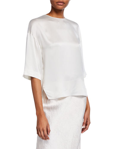 Satin High-Low T-Shirt