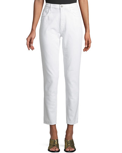 MiH Mimi High-Rise Straight-Leg Ankle Jeans