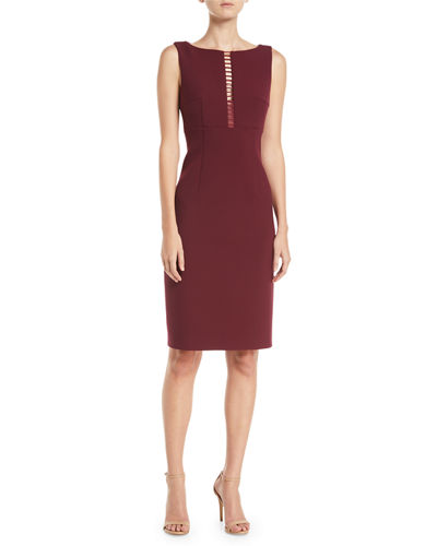 Doreen Ladder Stitch-Inset Dress