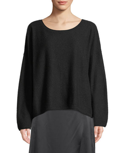 Boiled Cashmere Scoop-Neck Sweater